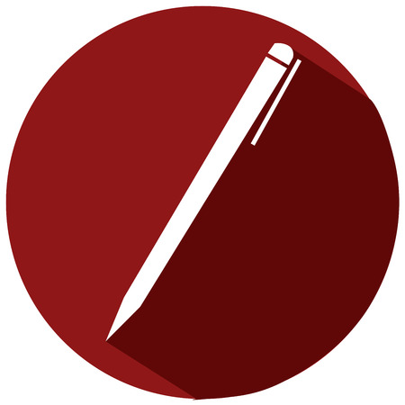 Whaite pen flat icon