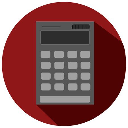 teclado numerico: Gris icono plano de la calculadora Vectores