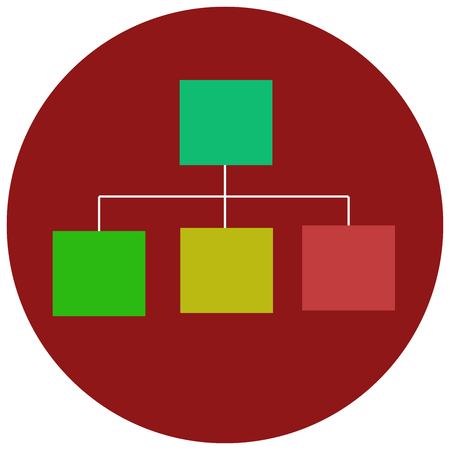 Hierarchical structure flat icon Illustration