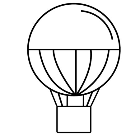 cheerfulness: Air baloon with stripes icon