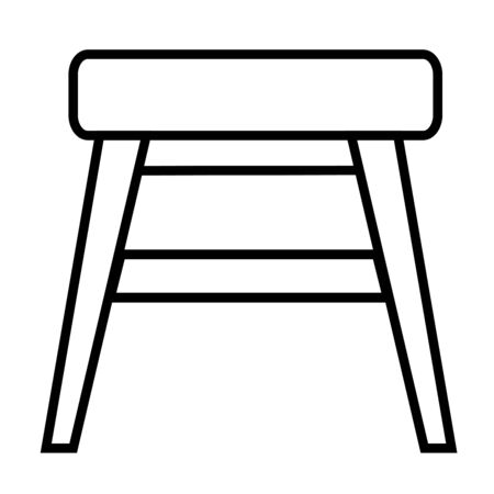 stool: stool icon Illustration