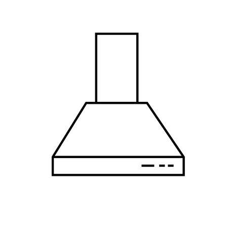 modern interior: extractor hood icon Illustration