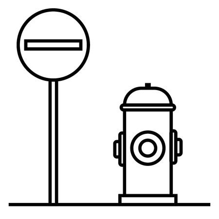 rejected: Prohibited way icon vector illustration. Illustration