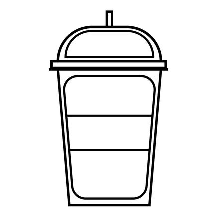 ice tea: Soft cold drink icon vector illustration.