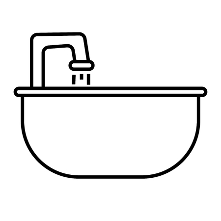 cleanliness: Sink icon vector illustration.