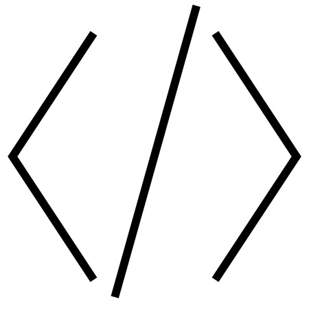 Brackets, code, coding, development, html icon