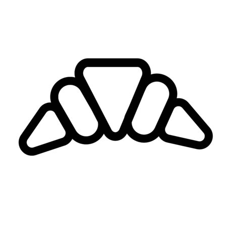 Croissant icon vector illustration.