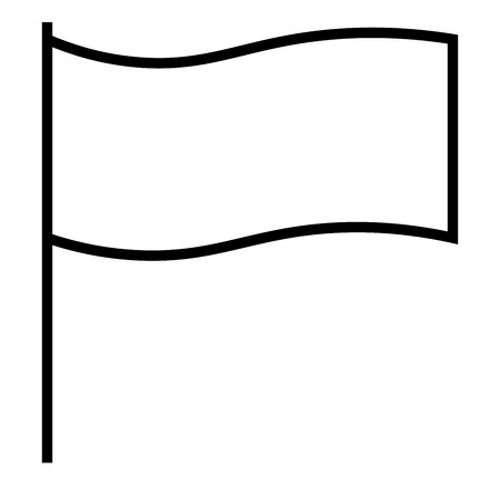 flagged: Flagged, flag, report, win icon vector illustration.