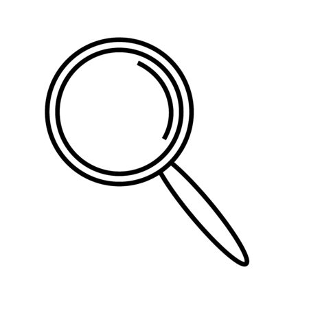 seeking: Magnifier icon vector illustration.