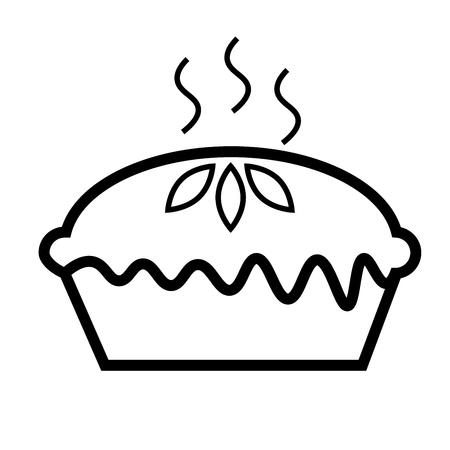 Pie icon vector illustration. 矢量图像