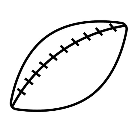 American football vector illustration. Illustration