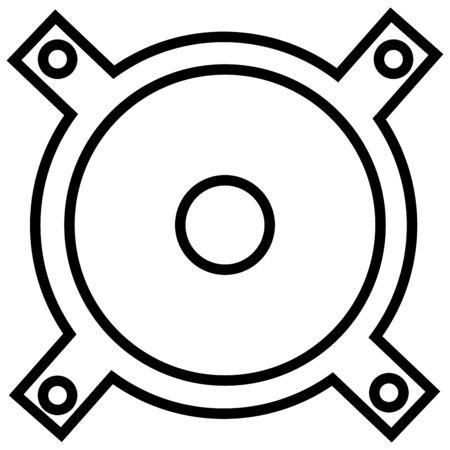 Music, speaker, streamline icon vector illustration. Illustration