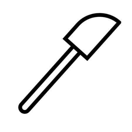 Spatula icon vector illustration. 向量圖像