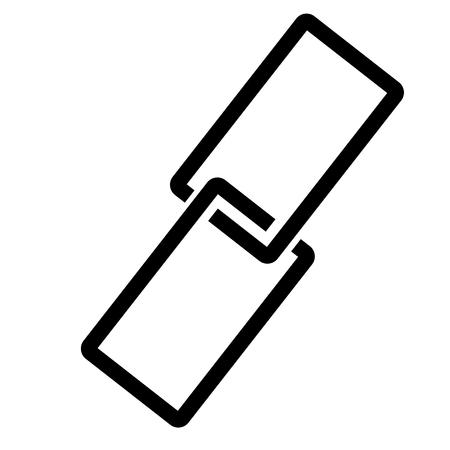 hyperlink: Hyperlink icon vector illustration.