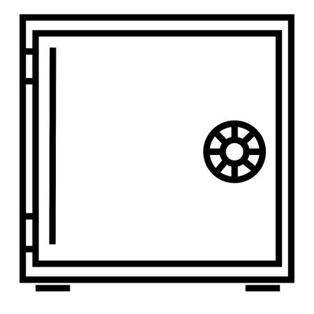 Strongbox icon vector illustration.