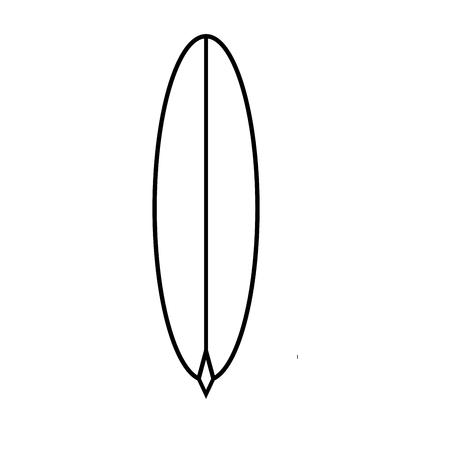 Surfboard icoon vector illustratie.