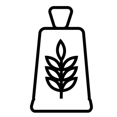 loaf: Flour icon vector illustration.