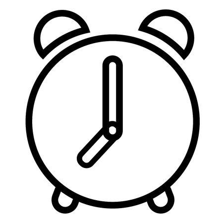 Alarm, bell, clock, time icon vector illustration.
