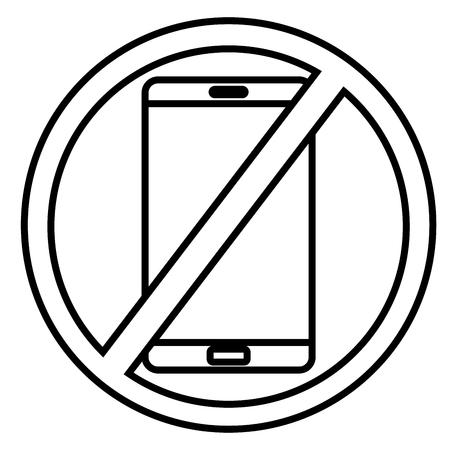 refrain: No phones icon vector illustration.