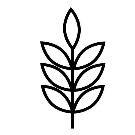 sheaf: Wheat icon vector illustration. Illustration