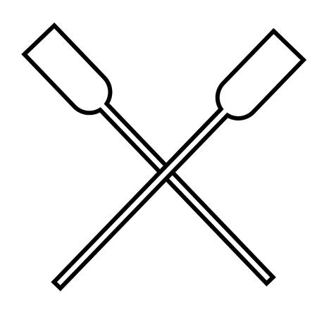 oars: oars icon Illustration