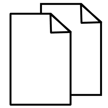 Copy, cut, documents, files, sheet icon