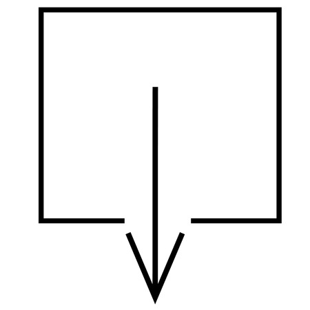 up load: Arrow, direction, down, download icon