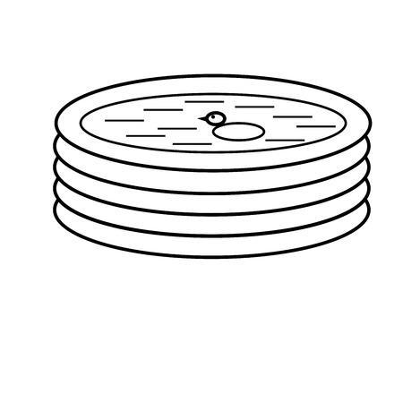 llave de sol: icono de la piscina inflable Vectores