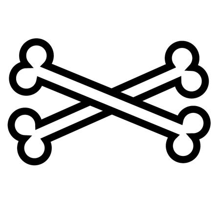 crossbones icon Illustration