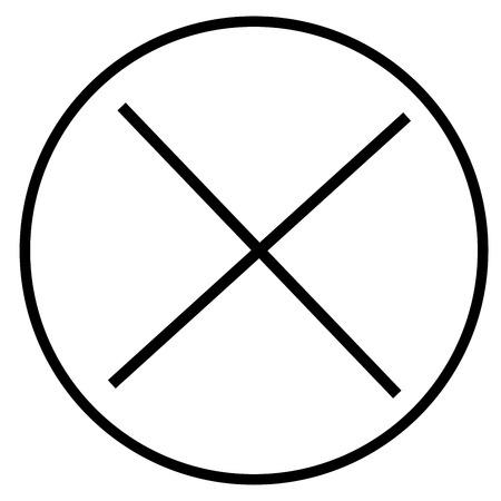 refuse: close icon Illustration