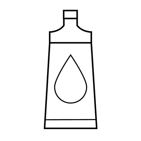 cleanliness: body oil icon Illustration