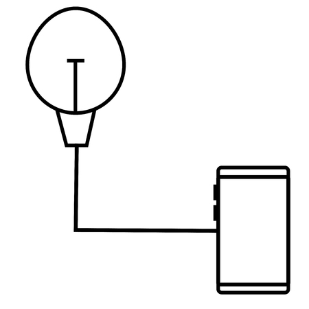 light control icon Illustration