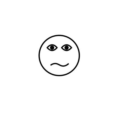 amazed: confused emotion icon