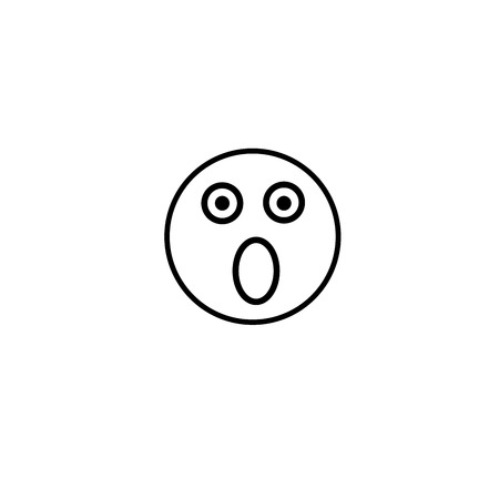 smiley: fear emotion icon