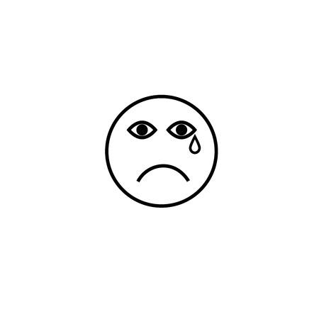 sad cry emotion icon