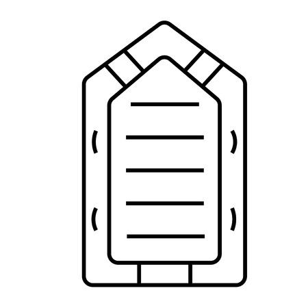 ゴム製のボート  イラスト・ベクター素材