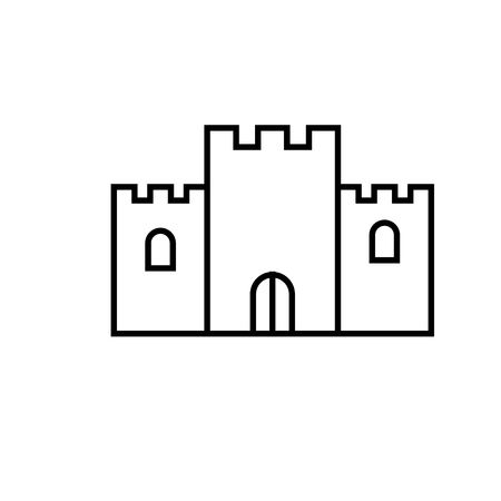 castle icon Illustration