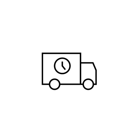 car speed: timed delivery truck