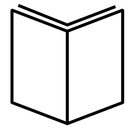 Boek, lees, stroomlijn icoon Stock Illustratie
