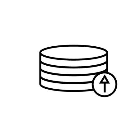 upload naar databasepictogram