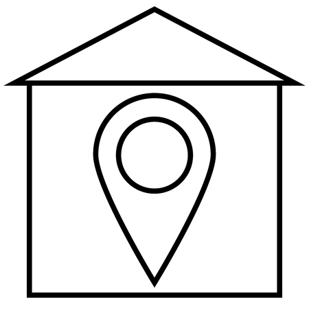 roadsign: General, home, home position, house icon Illustration