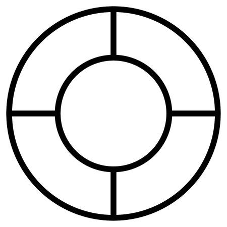 lifebuoy icon Stock Vector - 82176404