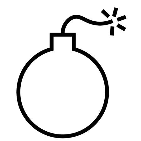 email bomb: Bomb, bug icon Illustration
