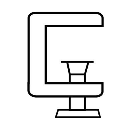 clamp icon Ilustração