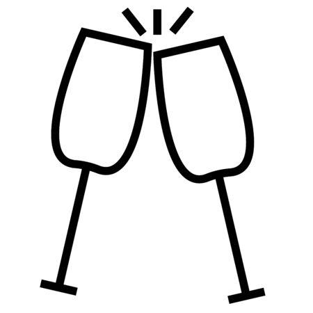 シャンパン  イラスト・ベクター素材