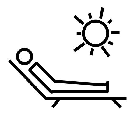 to sunbathe: sunbathe icon Illustration