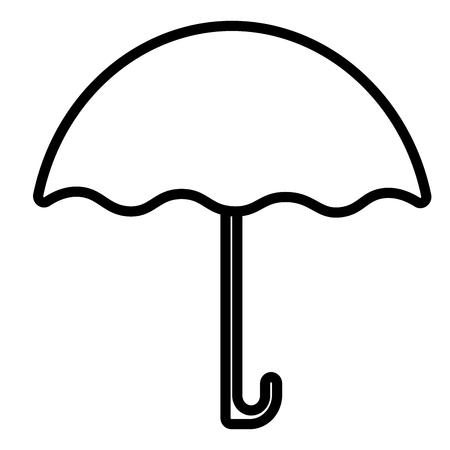rainbow umbrella: umbrella, weather icon Illustration