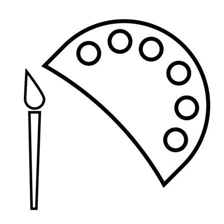 paintcan: paint icon Illustration
