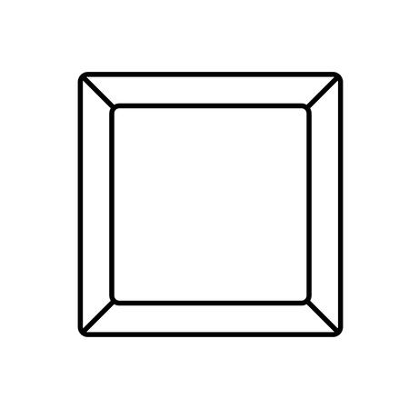 plate rectangle empty Ilustração