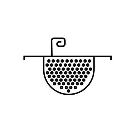 percolate: colander icon Illustration
